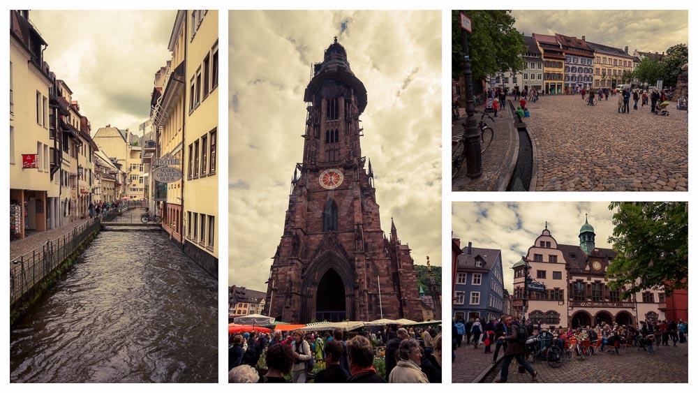 Postkarte aus Freiburg