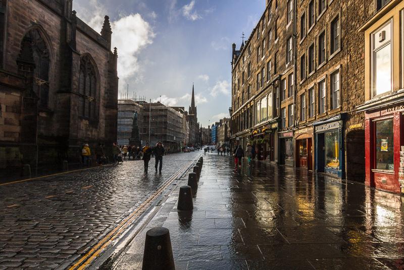 High Street nach dem Regen