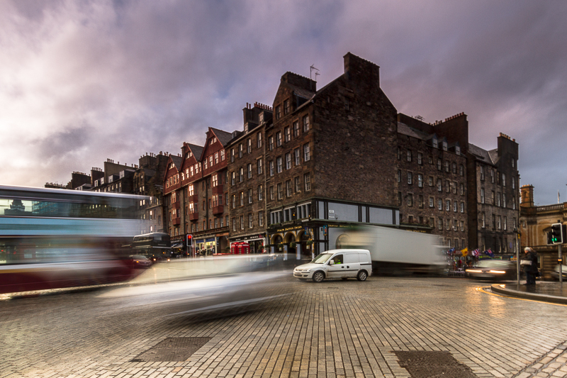 Feierabendverkehr in Edinburgh