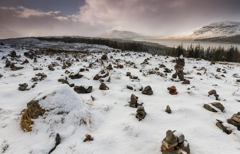 Loch Loyne mit Schnee