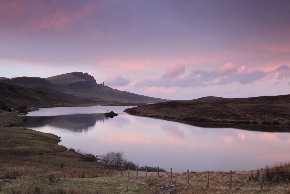 Old Man of Storr beim Sonnenuntergang
