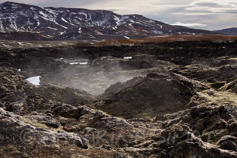 Wasserdampf in Leirhnjúkur