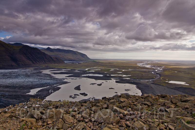 hier endet der Skaftafellsjökull